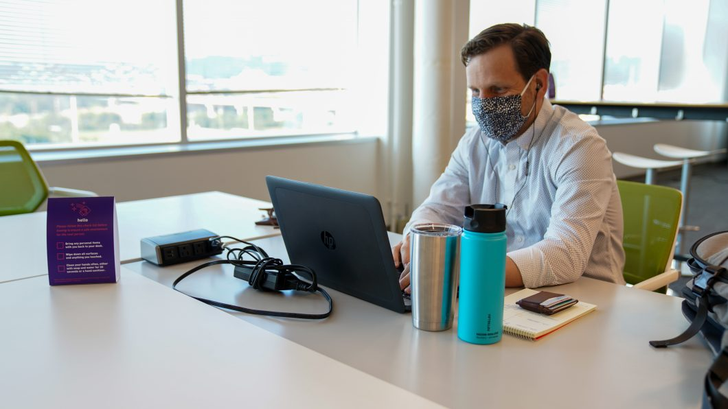 Many employees have adjusted to the new safety procedures—like wearing your face covering at all times.