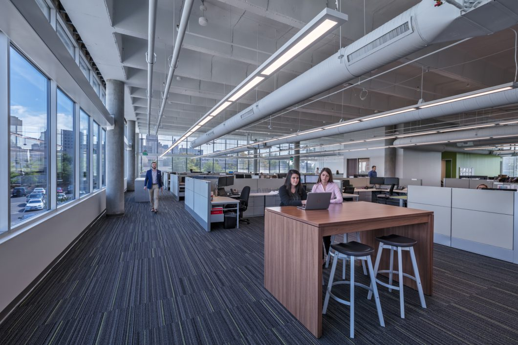 This newly designed office space encourages collaboration and include open spaces where failure is encouraged.