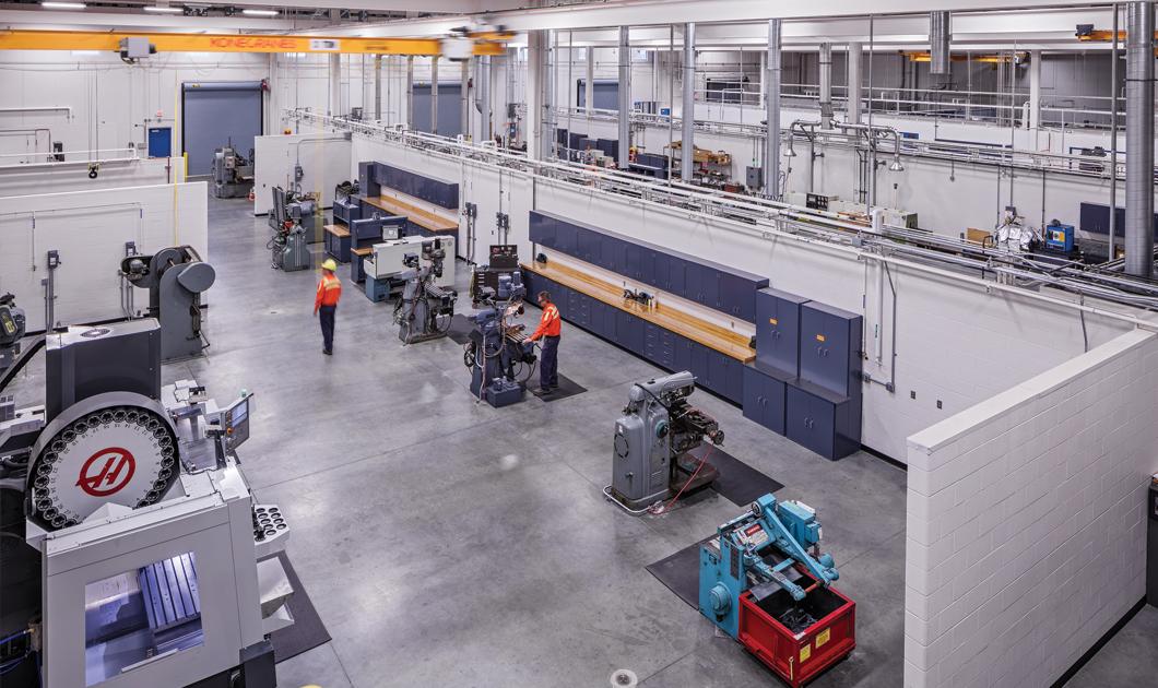 AK Steel research innovation center high bay machine fabrication