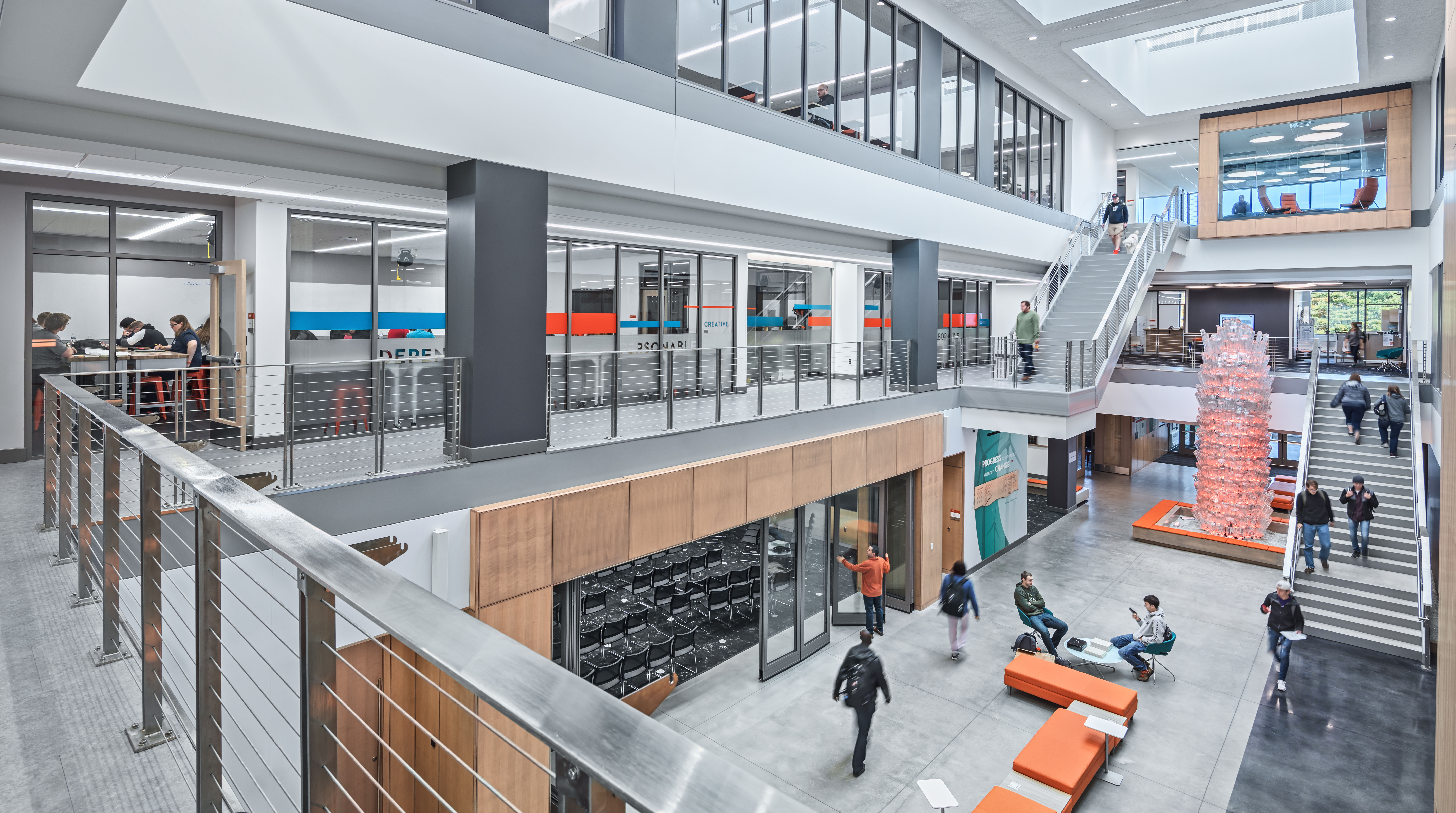 A look at the entire atrium