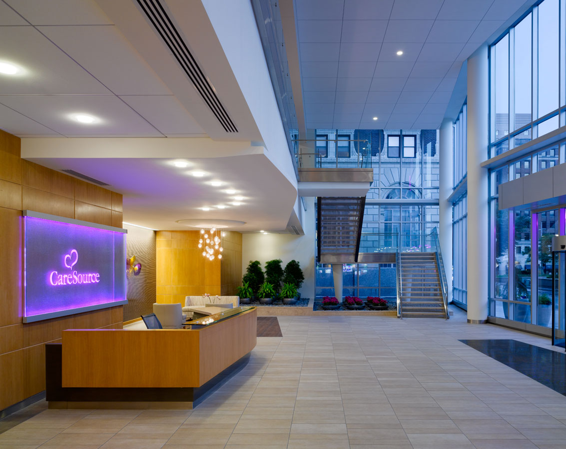 CareSource's lobby and receptionist desk
