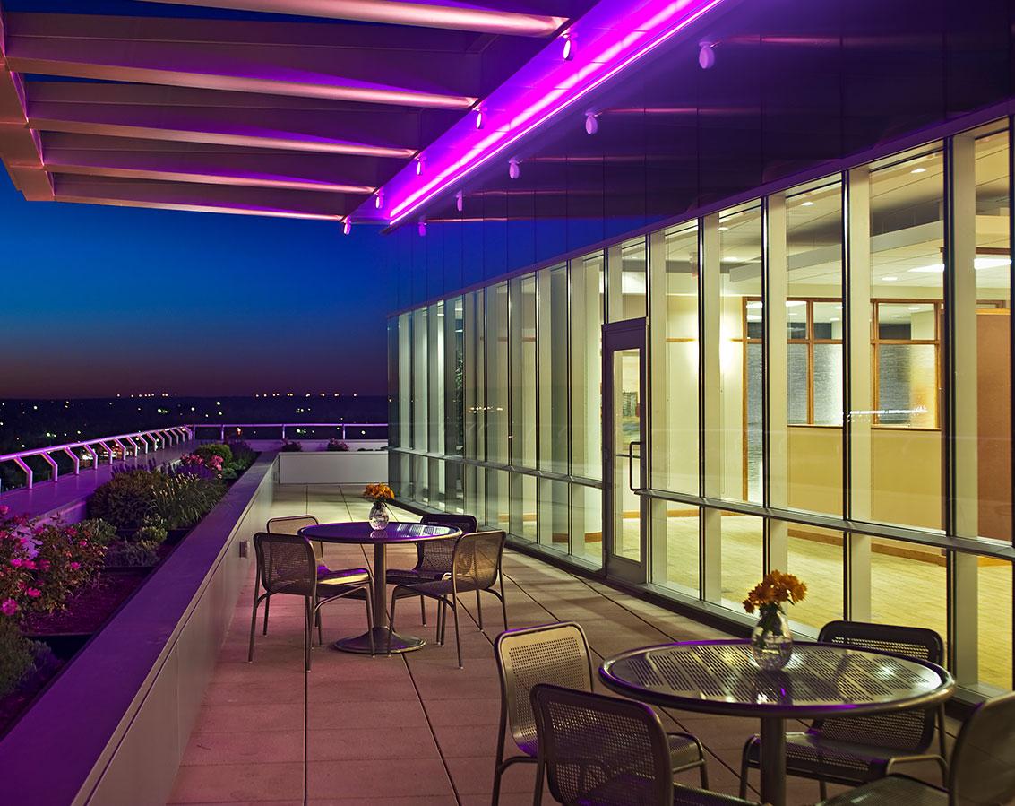 CareSource's outdoor terrace