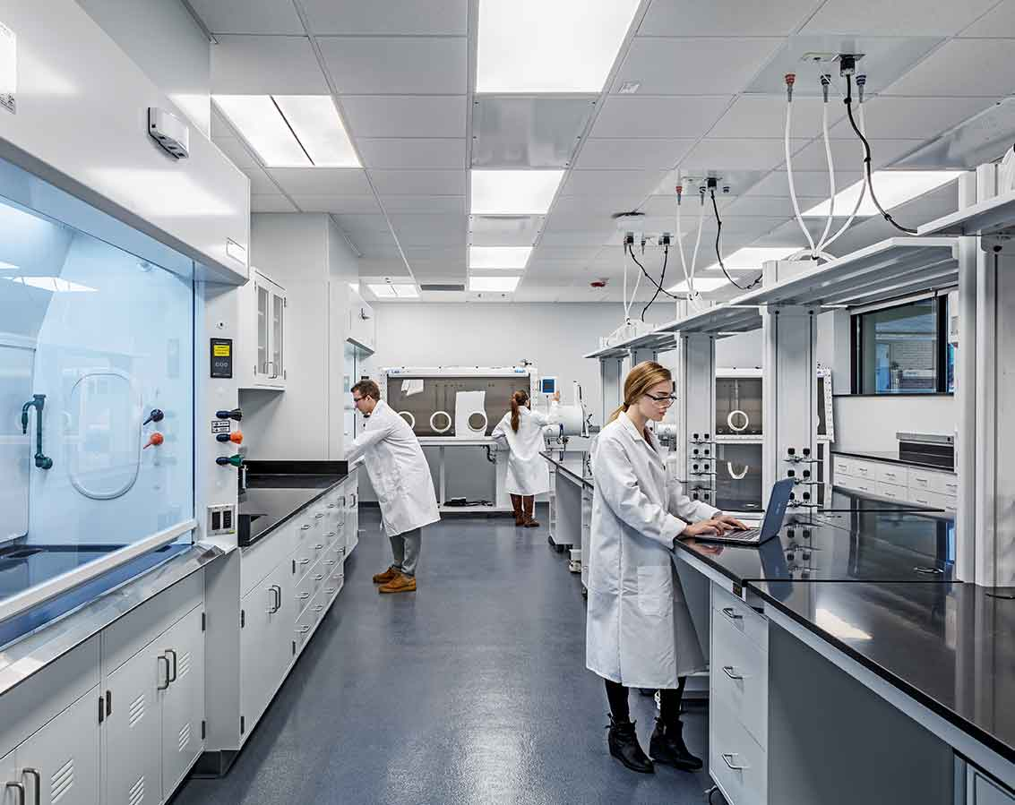 Laboratory space inside Case Western Reserve's Glennan Building