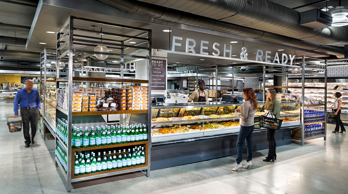 Shoppers browse the Fresh & Ready section at Brothers Marketplace