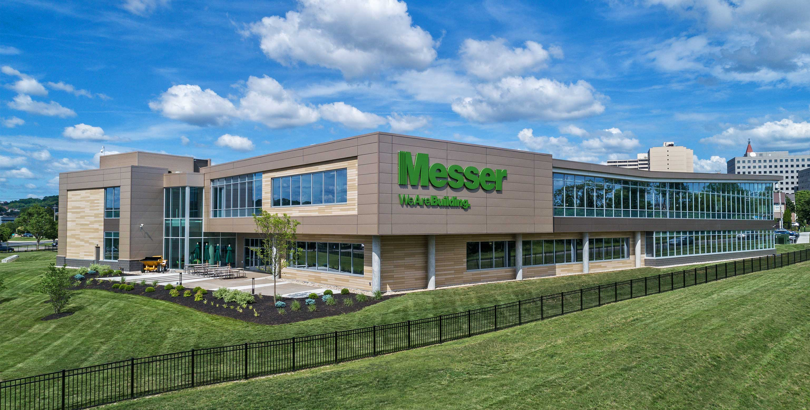 Aerial view of Messer's new corporate headquarters