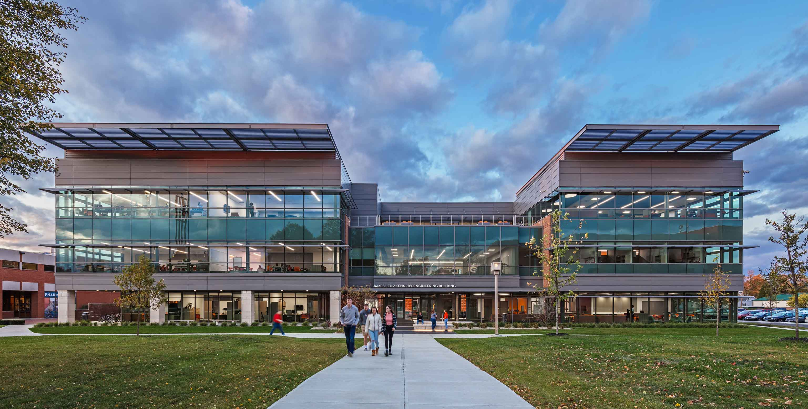 Front-facing view of ONU's new engineering building