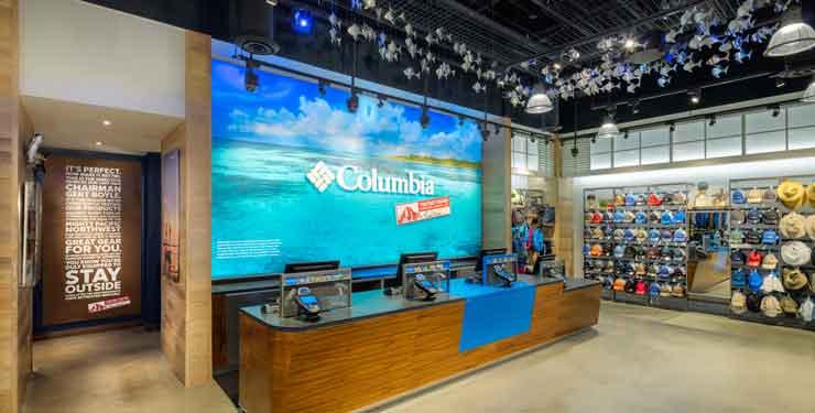 Registers at Columbia Sportswear in Disney Springs, FL