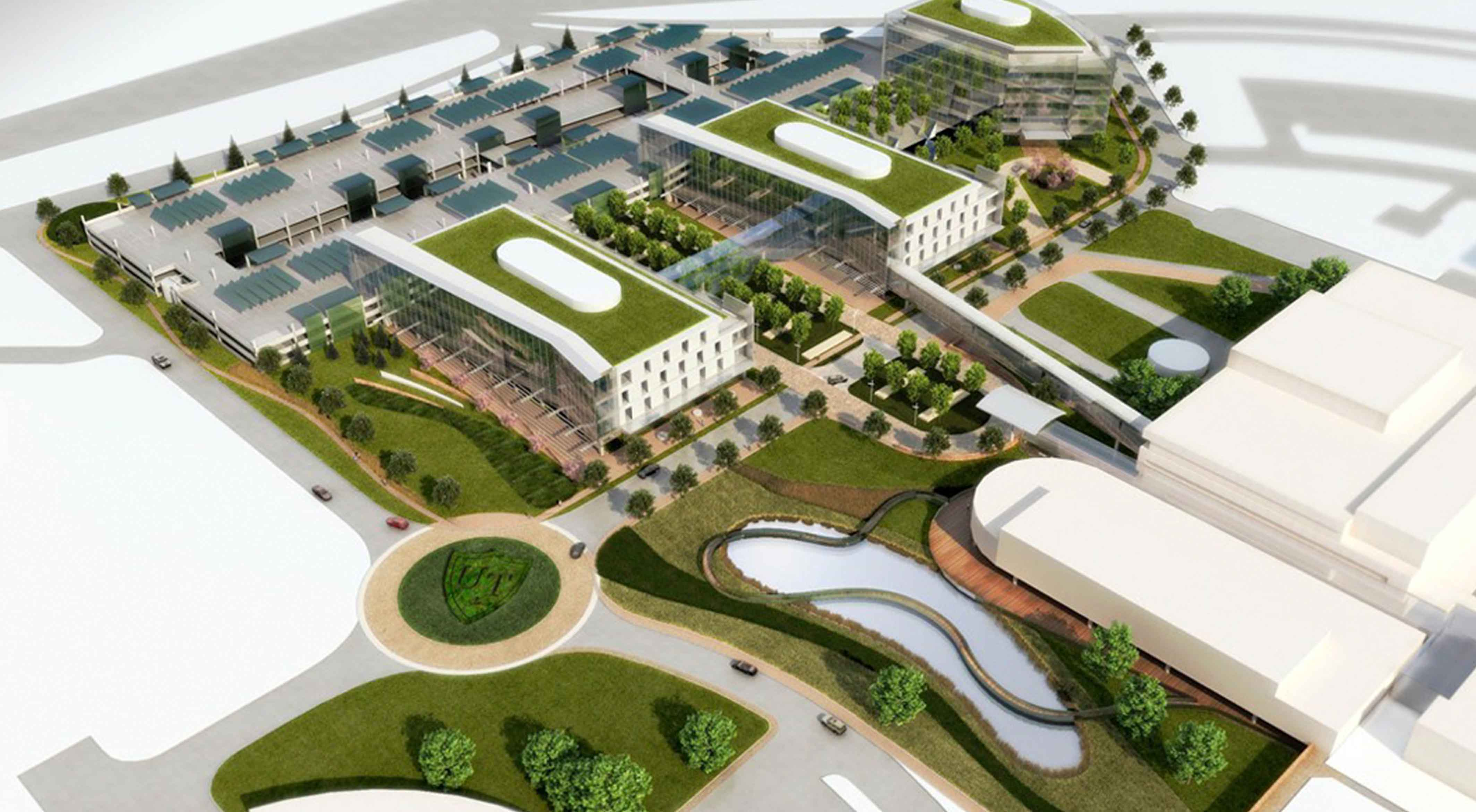 A campus comes to life using 3D renderings