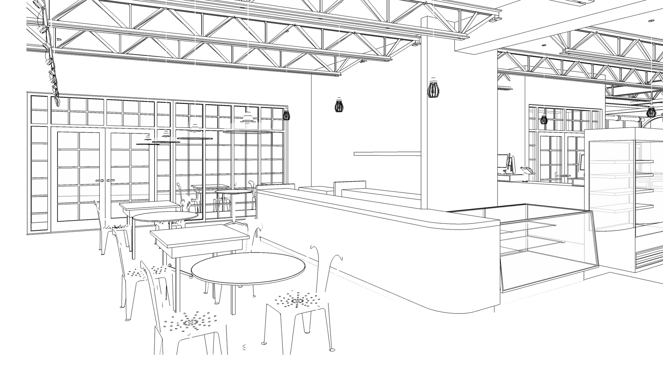 Sketch of Brothers Marketplace bakery in Medfield, MA