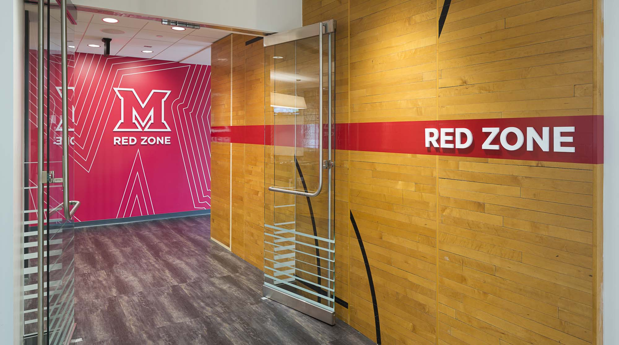 Entry way to the Red Zone at Miami University