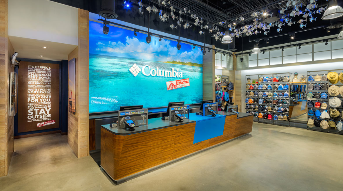 Columbia Outerwear store at Disney Springs, FL
