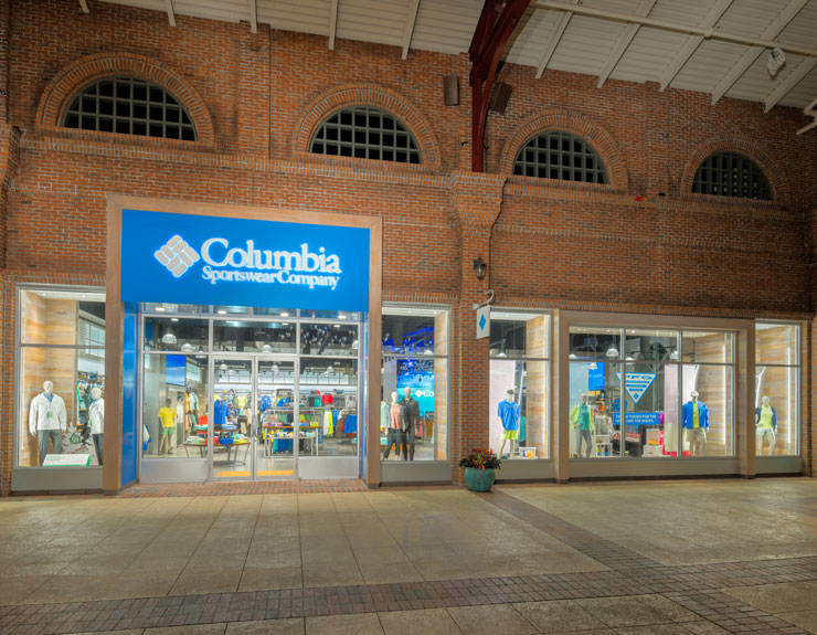 Exterior of Columbia Sportswear Company store in Disney Spring, FL