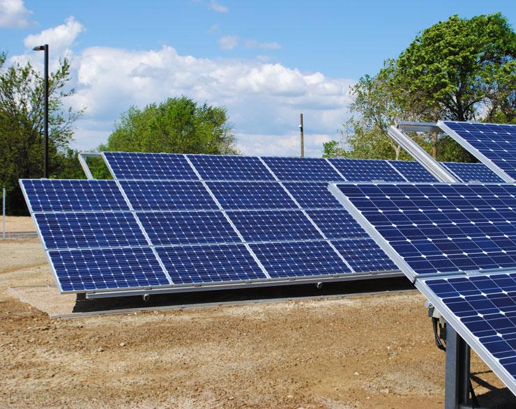 Solar panels at Battelle Visitor Center
