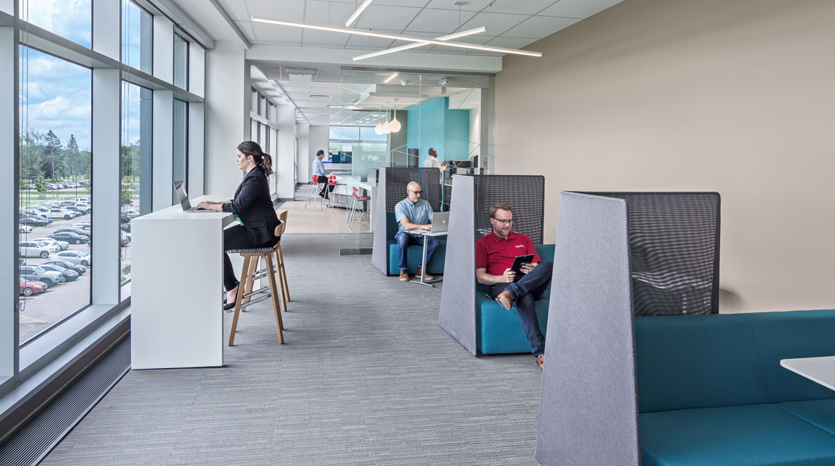 Flexible office seating at Toyota York
