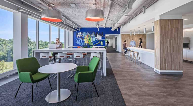 People work in a flexible environment at P&G