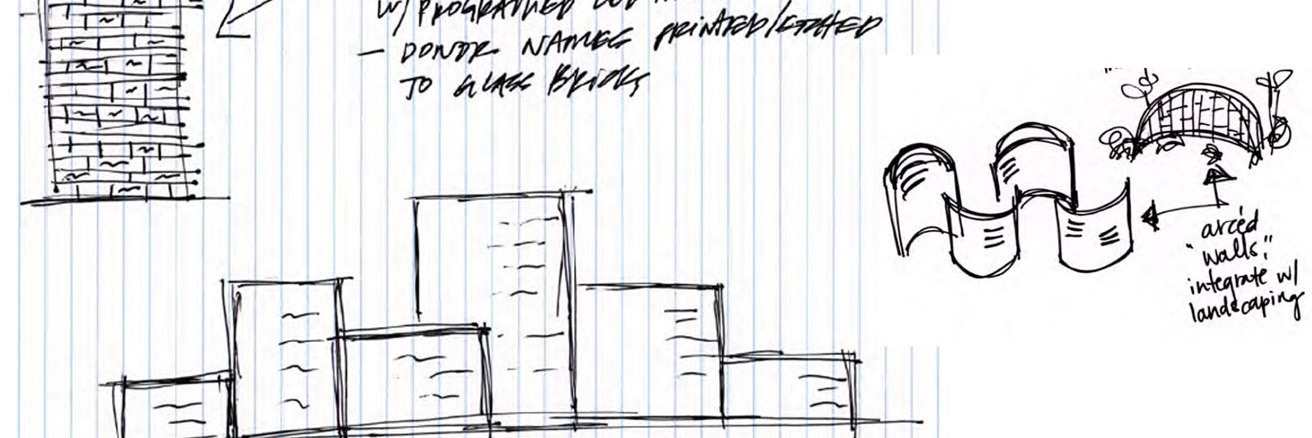 Sketch for experiential graphic design