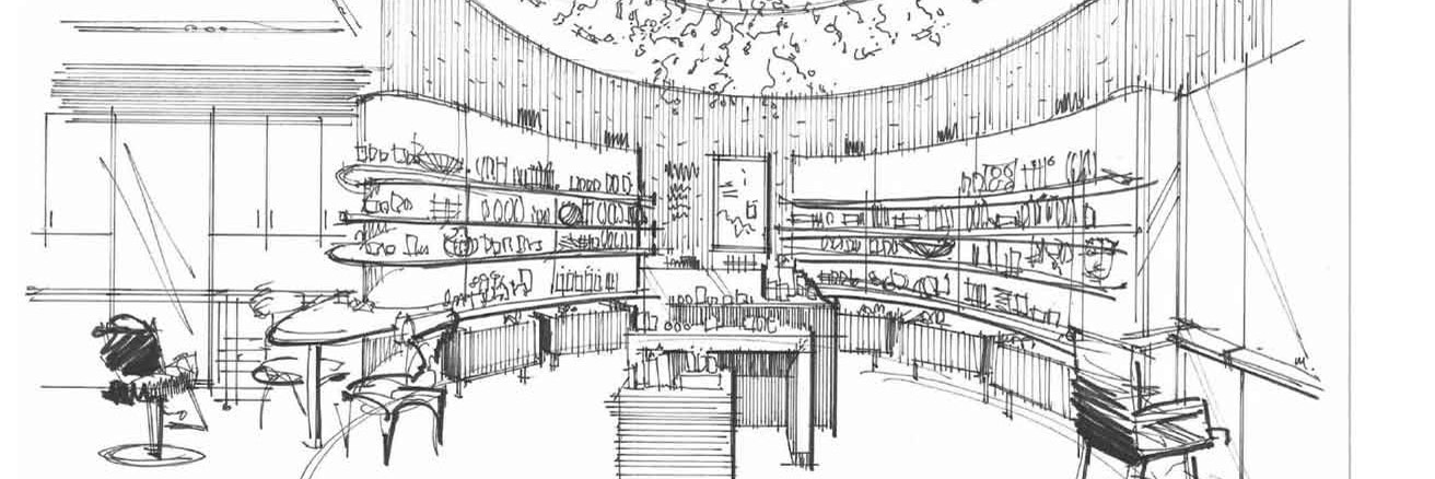 Sketch of retail store