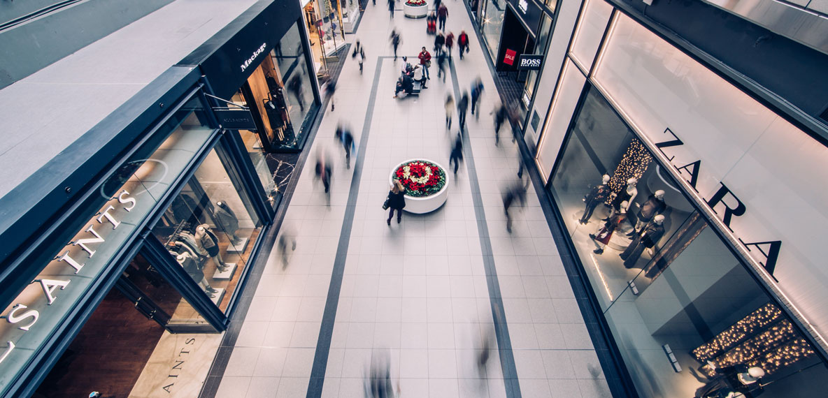 Shoppers in a Shopping Mall