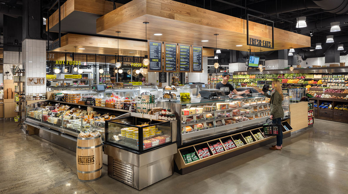 Cambridge Brothers Marketplace fresh food counter