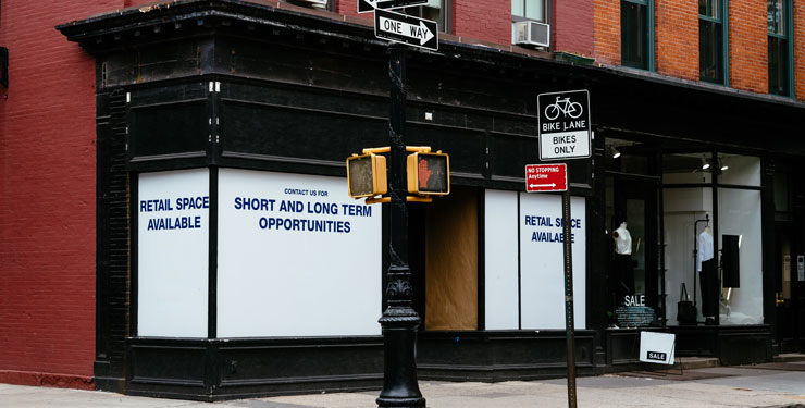 NYC vacant storefront