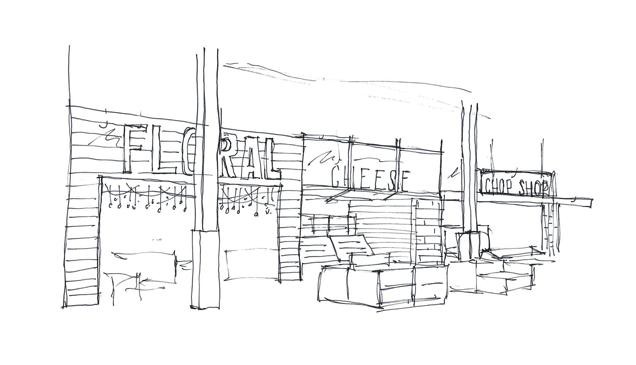 sketch of Roche Bros. Arsenal Yards
