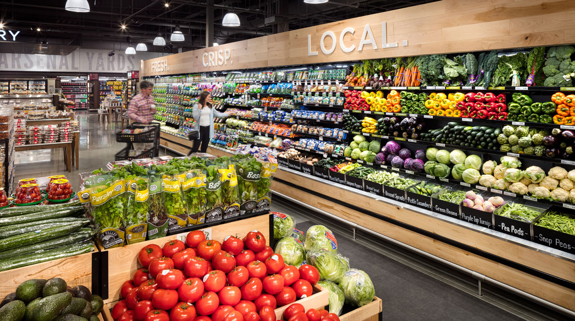 Roche Bros. Arsenal Yards location produce section
