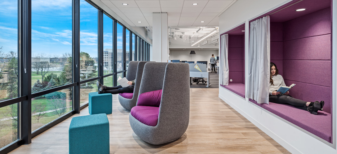 At Quantum Health, employees can relax in one of the respite areas