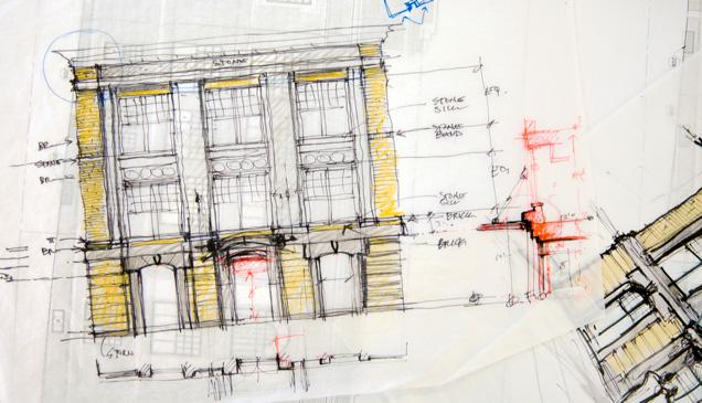Sketch of University Hall