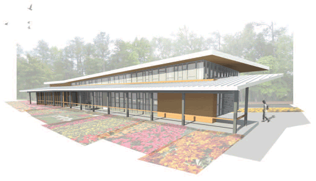 Rendering of the facility
