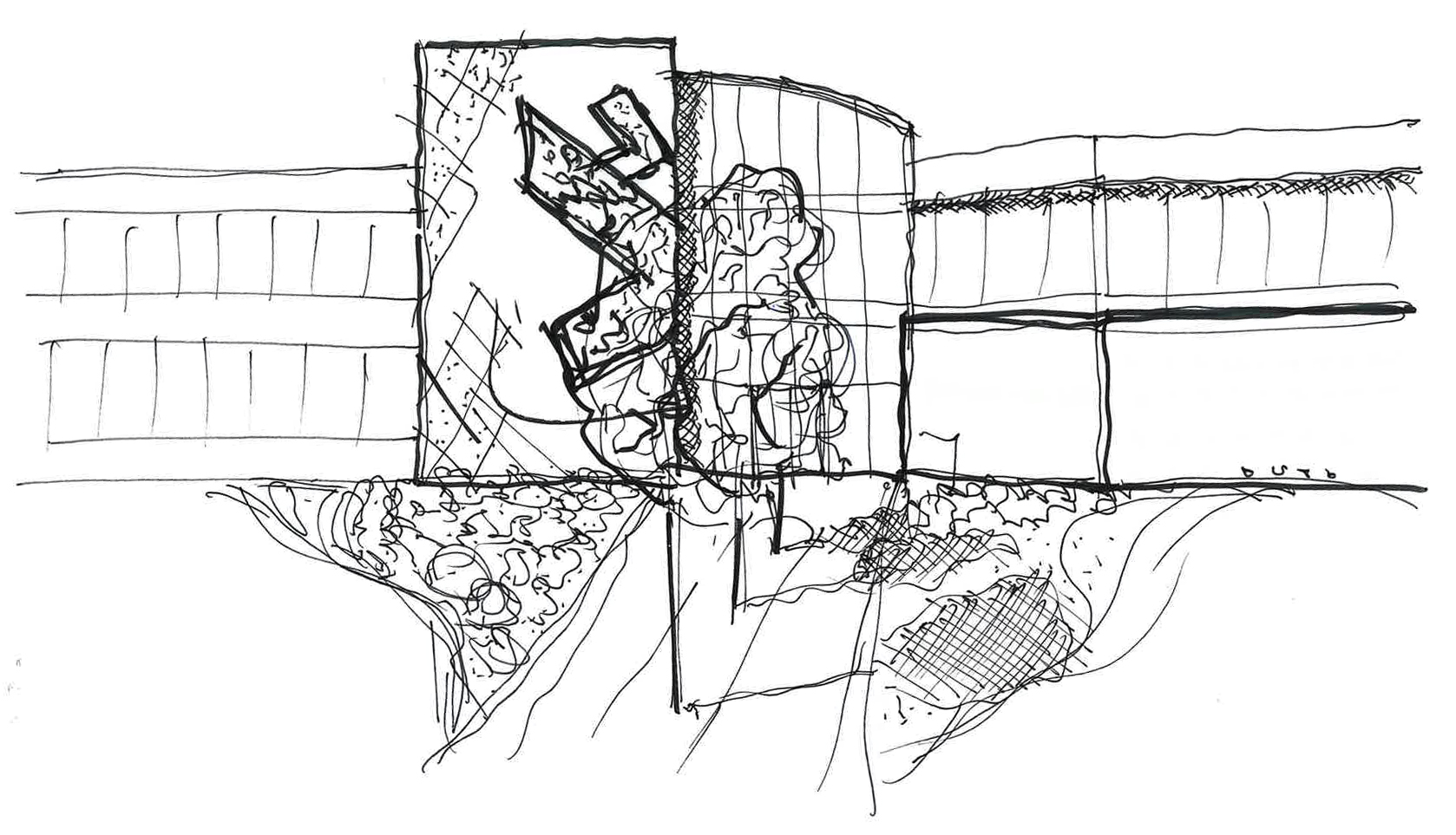 Sketch of the exterior of Ensemble