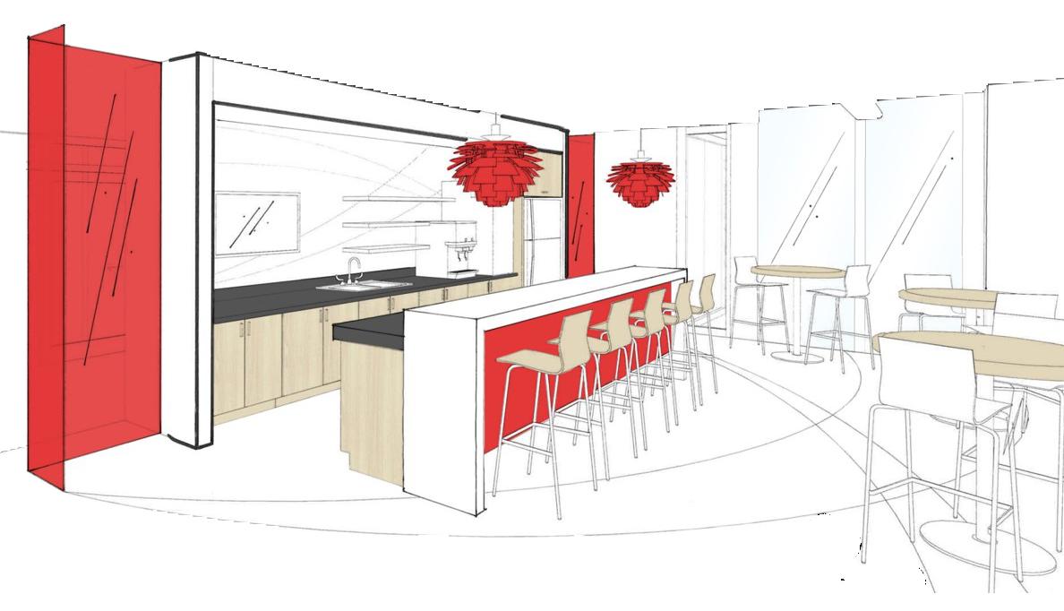 Sketch of Safelite kitchen