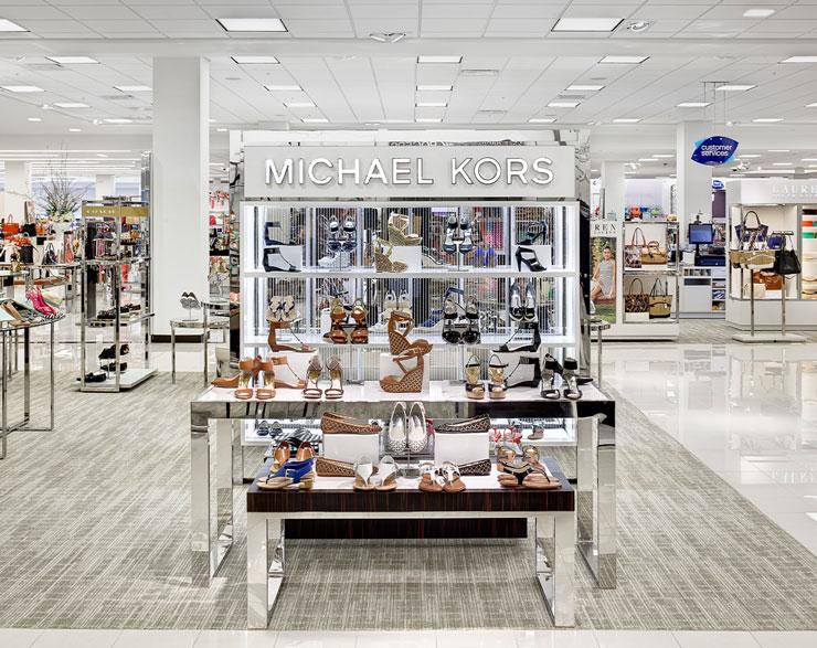 Michael Kors shoe display