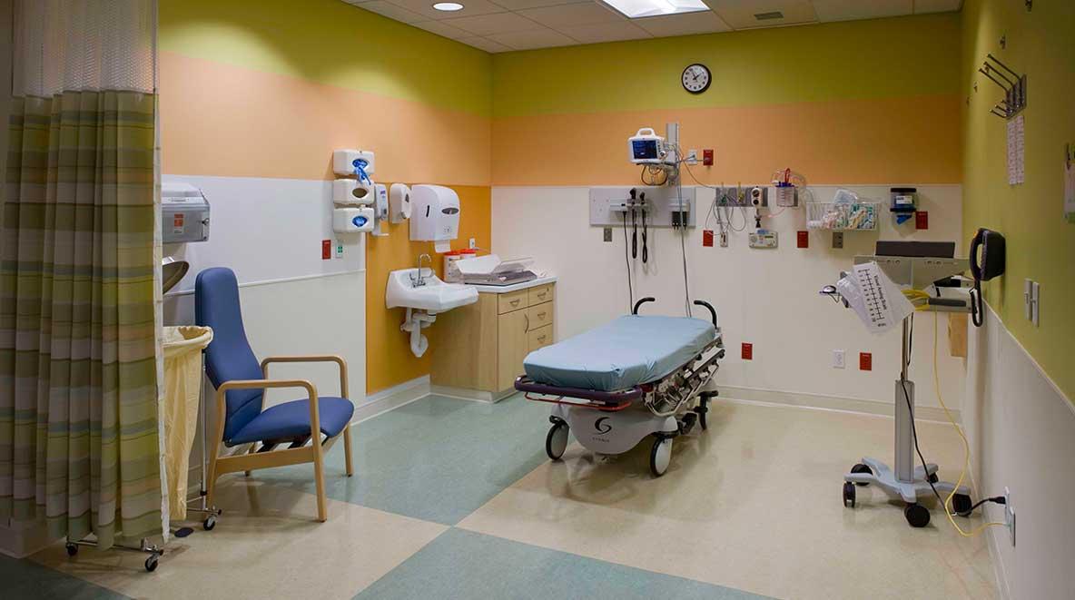 Interior operating room