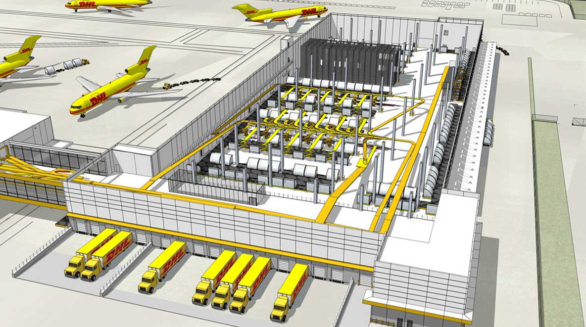 Aerial view of the DHL Building 5