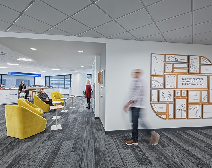Collaboration space at Fifth Third Bank