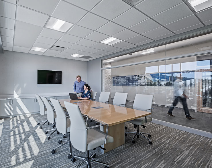A conference room at Iron Mountain