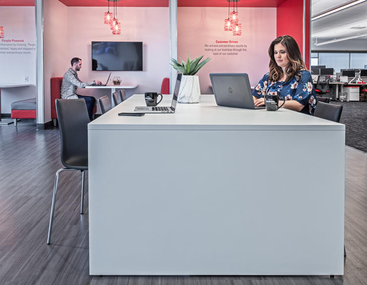 Open collaboration area at Fifth Third