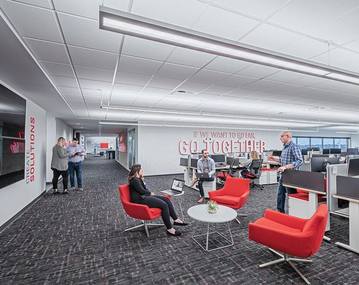 Open office area at Safelite