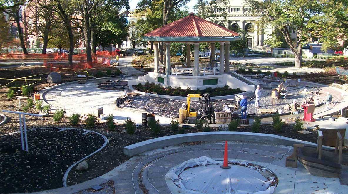 Construction of Washington Park play area