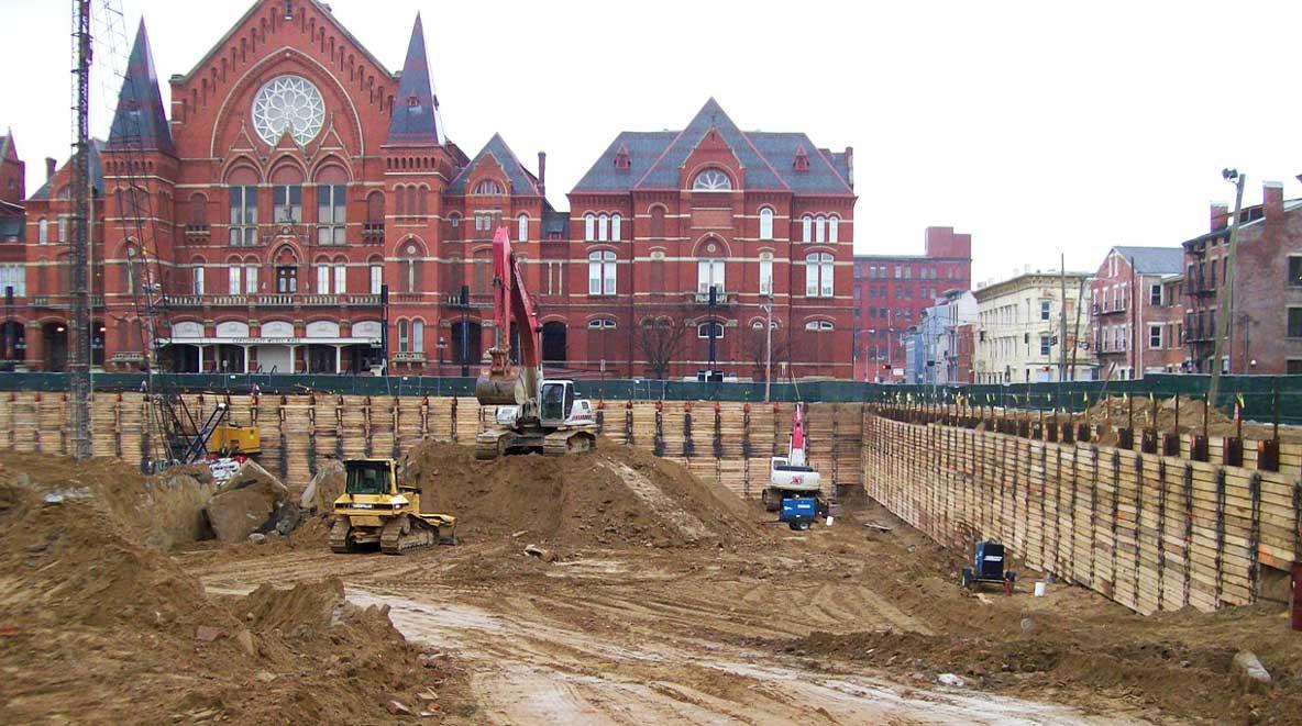 Construction of Washington Park