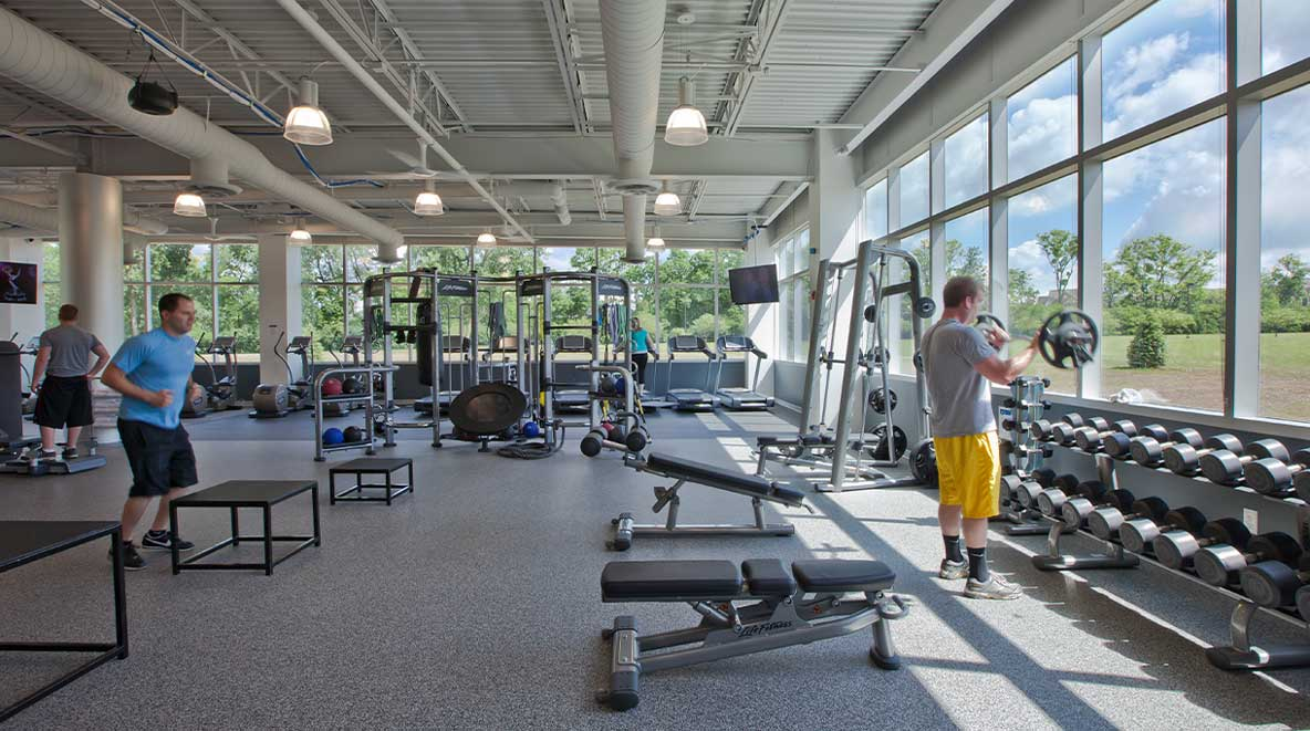 Modern fitness facility