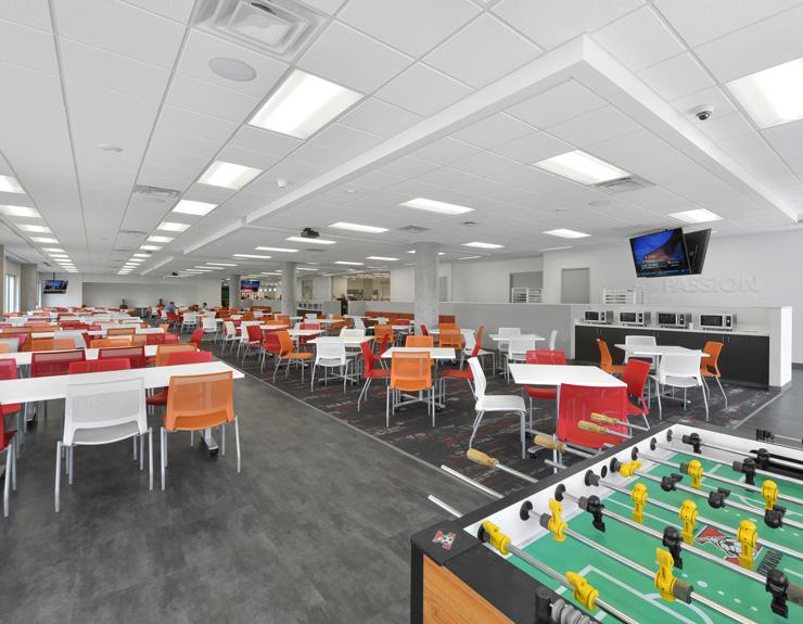 Games inside Ciena cafeteria