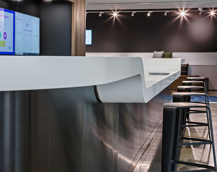 The bar is positioned at different heights, allowing anyone to use it