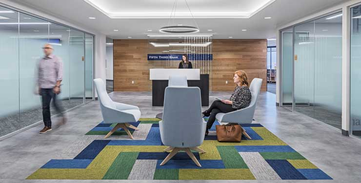 Fifth Third Bank reception area