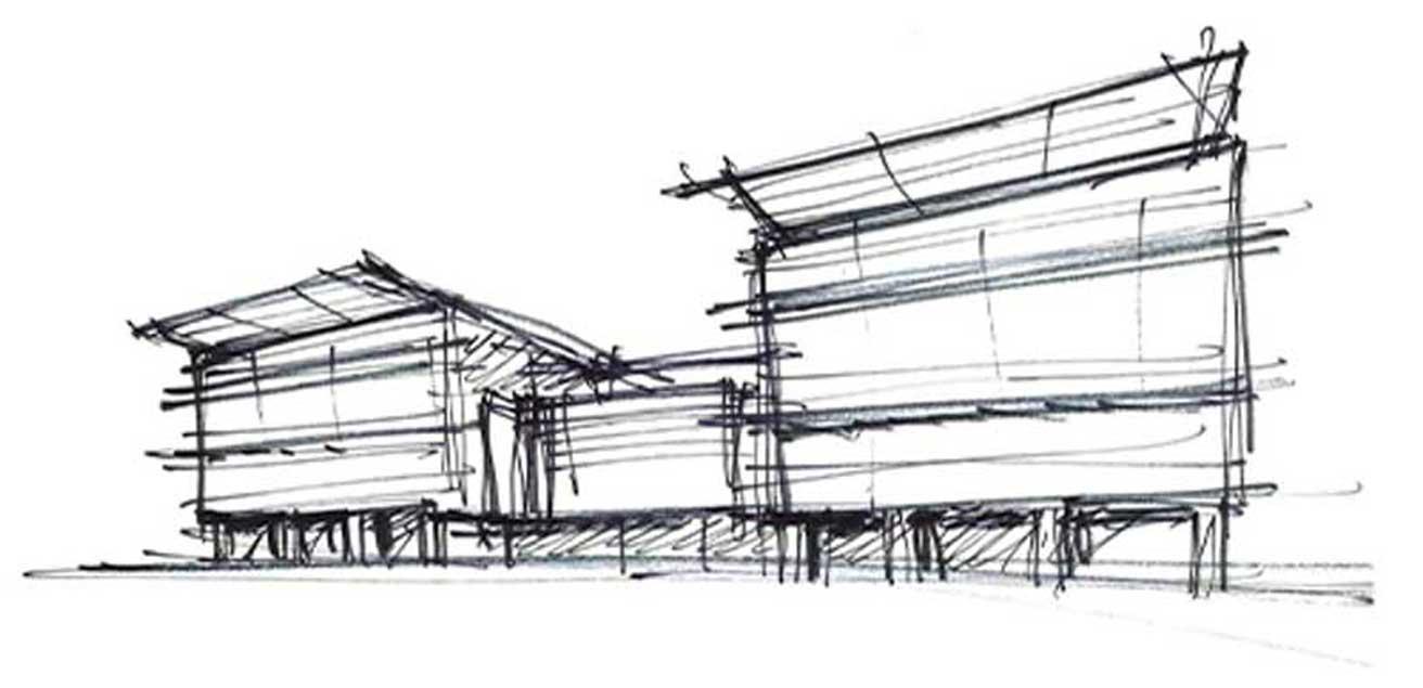 Sketch of Ohio Northern University Engineering Building
