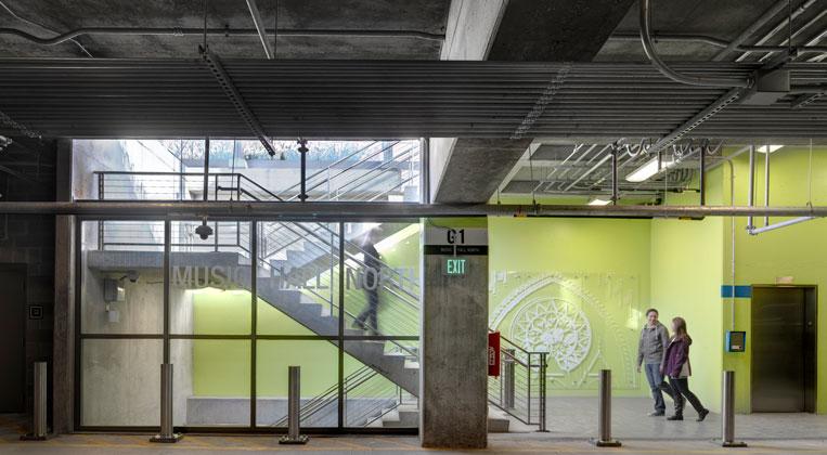 Underground garage at Washington Park